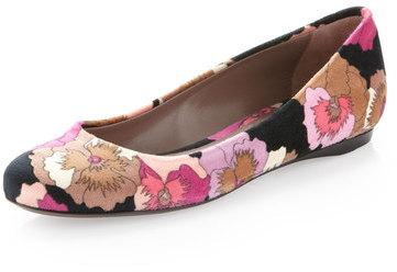 Missoni Floral-print Velvet Ballerina Flat