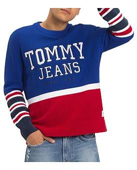 Tommy Jeans Tjm Colorblock Logo Sweater