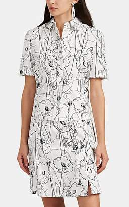 Jason Wu Women's Scribble-Print Cotton Twill Shirtdress - Chalk/Black Size 10