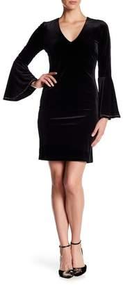 Karen Kane Embellished Bell Sleeve Dress