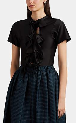 Comme des Garcons Women's Tie-Front Jersey T-Shirt - Black