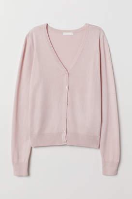 H&M Fine-knit cardigan - Pink
