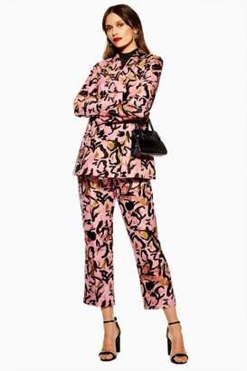 Topshop Womens Animal Jacquard Trousers
