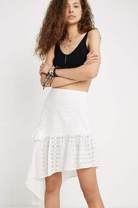Urban Outfitters Eyelet Asymmetrical Mini Skirt