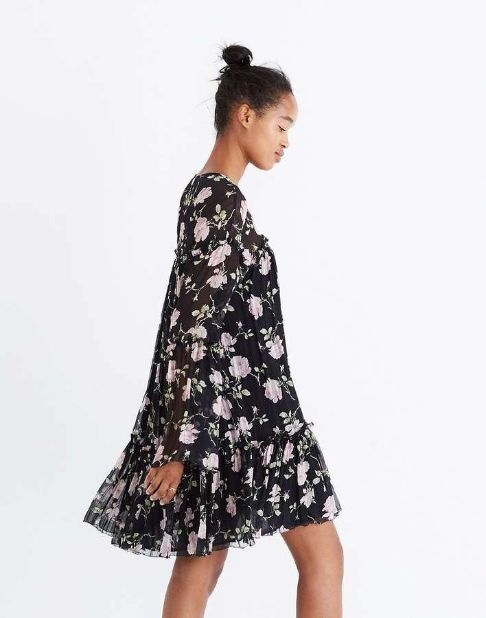 Ulla JohnsonTM Silk Dahlia Floral Mini Dress