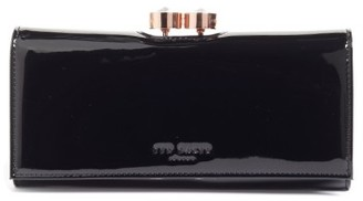 Women's Ted Baker London Merlow Leather Matinee Wallet - Black $169 thestylecure.com