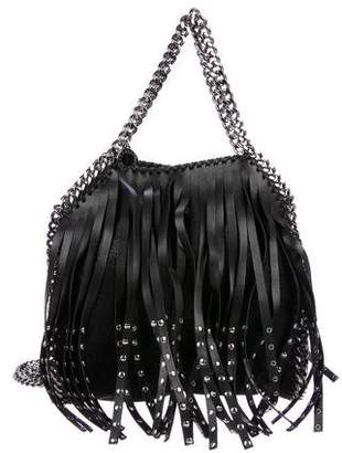 Stella McCartney Fringed Vegan Leather Fold-Over Tote