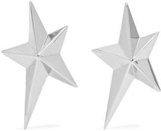Mugler - Rhodium-plated Clip Earrings - Silver $190 thestylecure.com