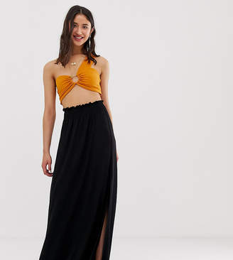 Asos Tall DESIGN Tall shirred waist maxi