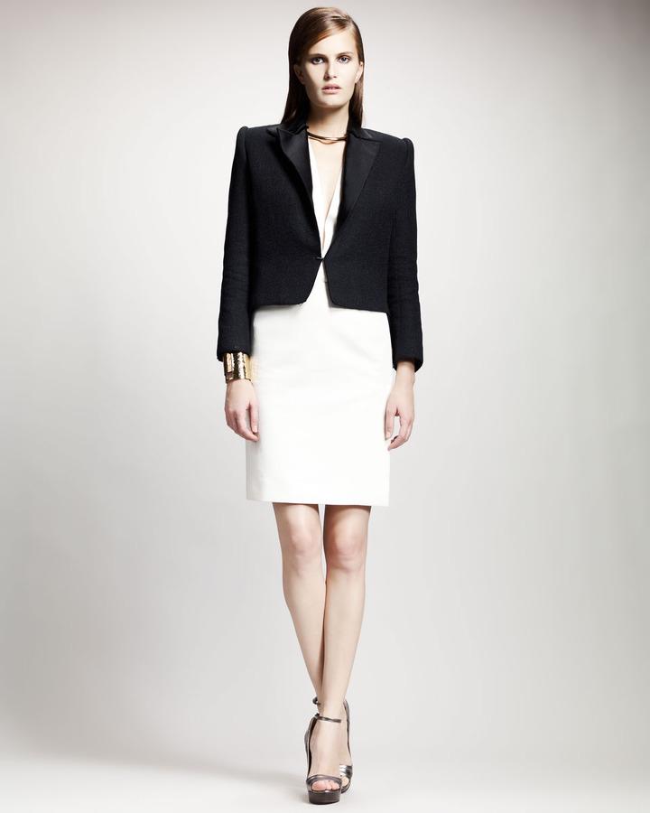 Lanvin Split-Hem Jacket, Black