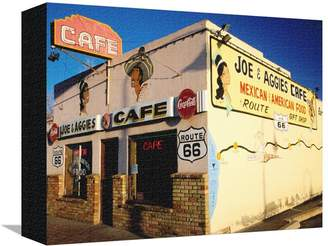 Art.com Joe and Aggies Cafe, Route 66, Holbrook, Arizona Stretched Canvas Print By Witold Skrypczak - 23x30 cm