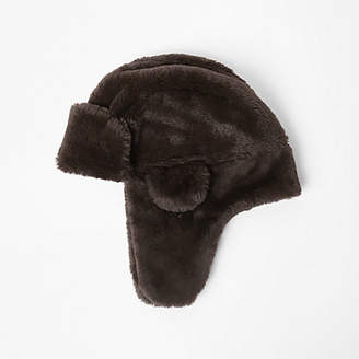 River Island Boys brown faux fur trapper hat