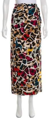 Diane von Furstenberg Silk Wrap Midi Skirt