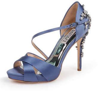 70fc866cbc9 Badgley Mischka Fame Satin Platform Sandals