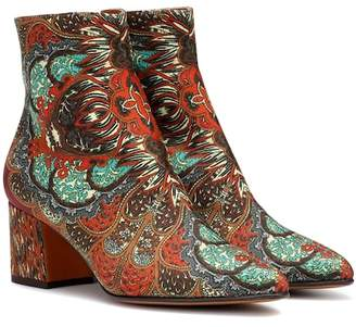 Etro Printed satin ankle boots