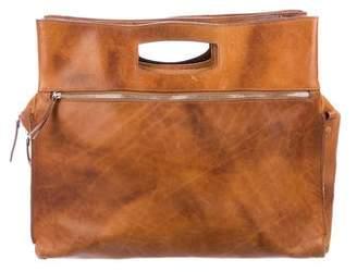 Maison Margiela Distressed Leather Satchel