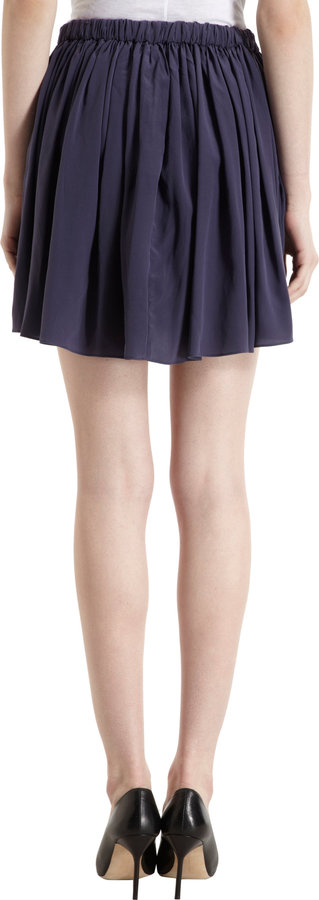 Thakoon Gathered Button Front Skirt