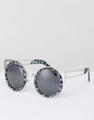AJ Morgan Round Sunglasses With Brow Bar $19 thestylecure.com