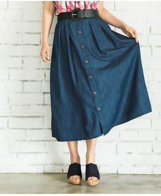 anyFAM (エニィファム) - any FAM ウォッシュドコットンテンセル スカート エニィファム スカート