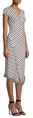 St. John Jacquard Wrap-Hem Dress