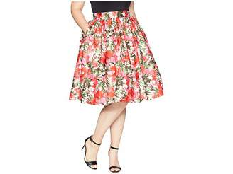 Unique Vintage Plus Size High Waist Swing Skirt Women's Skirt