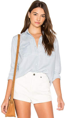 Obey Denizen Button Down Shirt in Baby Blue $77 thestylecure.com