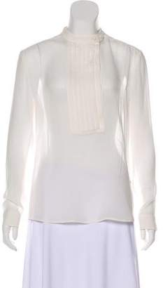 Pierre Balmain Silk Long Sleeve Top