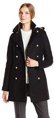 Via Spiga Women's Double-Breasted Military Wool-Blend Coat $285 thestylecure.com
