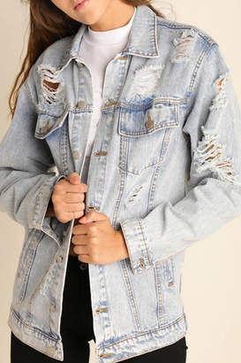 Umgee USA Distressed Denim Jacket
