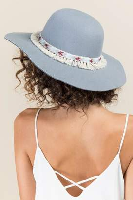 francesca's Clayton Felt Floppy Hat - Gray