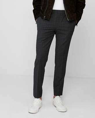 Express Extra Slim Dark Gray Plaid Dress Pant