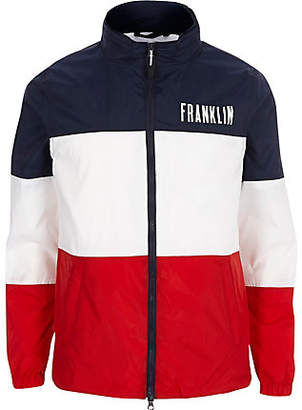 River Island Franklin and Marshall navy color block jacket