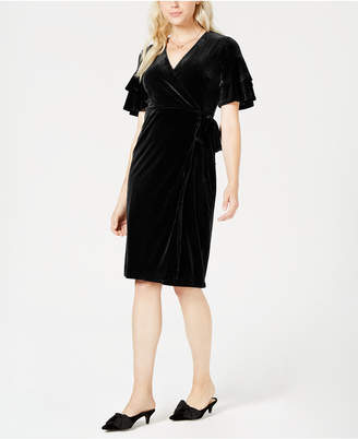 Maison Jules Velvet Wrap Dress