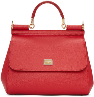 Dolce & Gabbana Red Medium Sicily Bag $1,695 thestylecure.com