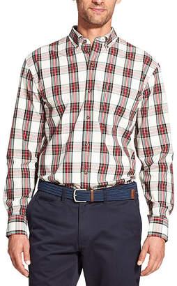 Izod Holiday Tartan Long Sleeve Button-Down Shirt