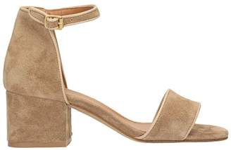 Julie Dee Beige Suede Sandals