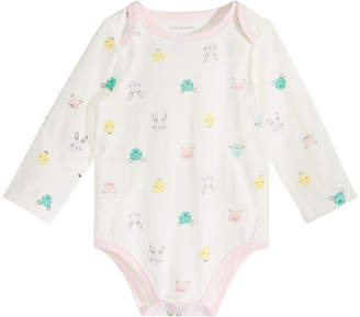 First Impressions Baby Girls Barnyard-Print Bodysuit, Created for Macy's