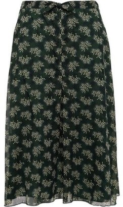 Anna Sui Knotted Printed Georgette Skirt