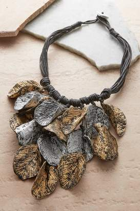 Soft Surroundings Paper Leaves Necklace
