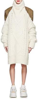 Maison Margiela Women's Backless Cable-Knit Alpaca-Blend Sweater - Off White