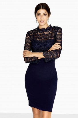 Paper Dolls Amal Crochet Knee-Length Dress