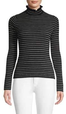 Rebecca Taylor Ruffled Merino Wool Pullover Top