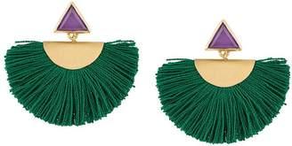 Katerina Makriyianni fringe detail earrings