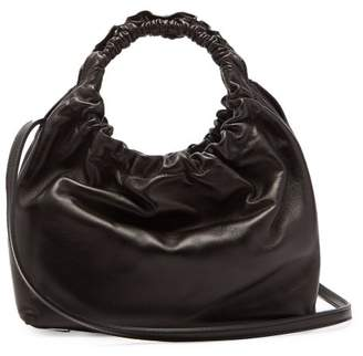 The Row Double Circle Small Leather Bag - Womens - Black