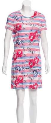 Chanel Floral & Stripe Print Mini Dress