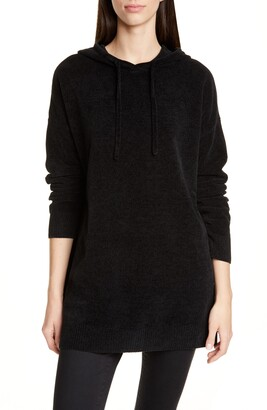 Eileen Fisher Hooded Organic Cotton Chenille Tunic