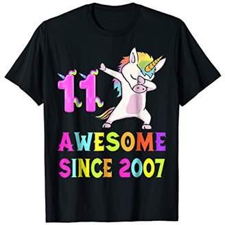 11th B-day T-Shirt - Unicorn Dabbing Awesome Since 2007