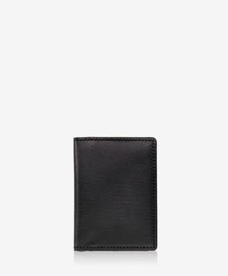 GiGi New York Card Case with ID Holder, Black Vachetta Leather