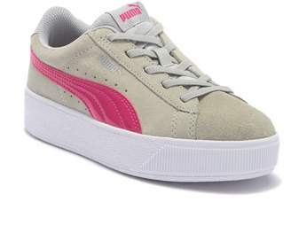 Puma Vikky Platform Suede AC Sneaker (Little Kid)