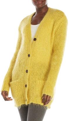 pink tartan Mohair Oversized Cardigan $595 thestylecure.com
